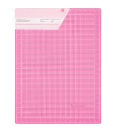 American Crafts-Pink Double Sided Self Healing Cutting Mat. This self-healing cutting mat is great for cutters, blades and setting scrapbooking-cutting-tools. The ultra-thick surface prevents blade cu