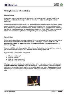 Sample of formal and informal letters google search english writing formal and informal letters httpsnationalgriefawarenessday7153business altavistaventures Image collections