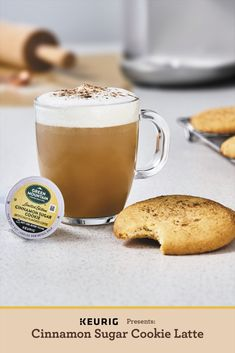 We are fully embracing baking season with this easy 3 step Cinnamon Sugar Cookie Latte recipe made with the K-Café brewer. Keurig Recipes, Coffee Recipes, Drink Recipes, Cinnamon Sugar Cookies, How To Be Single, Lactose Free Milk, Cappuccino Maker, Coffee Cookies, Latte Recipe