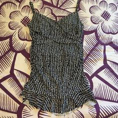 •La Blanca swim dress• Super flattering! Size 12. I am a size 34DD and this fit me perfect. I have lost some weight so I am selling! Black and white! Has padding in the bra area. Worn once for like 3 hours. Its like new! Has ruching detail on the sides for a slimmer look. Bundle for a discount! La Blanca Swim One Pieces