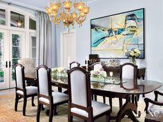 Seguso Interiors' Murano glass, eight light  chandelier. Interior Design: Carolyn McCarthy Architecture: Ramon Pacheco Photography: George Cott Florida Fall 2010 #Luxe