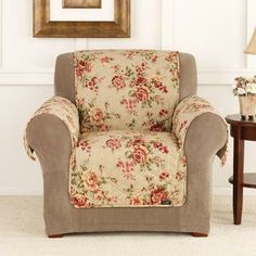 Sure Fit Lexington Floral Furniture Friend Chair Cover | Overstock.com Shopping - Big Discounts on Sure Fit Chair Slipcovers