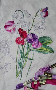 Peinture à l'aiguille réalisée par Ginette