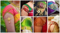 Sleeves are such an important part of clothes as it is one of the first things you see in a garment. They should fit properly and be comfortable to wear as well. Sleeve styles vary greatly with time and fashion. Fashions of sleeves come and go. One moment Brocade Blouse Designs, Pattu Saree Blouse Designs, Simple Blouse Designs, Stylish Blouse Design, Blouse Back Neck Designs, Sari Blouse, Blouse Patterns, Sewing Patterns, Sleeves Designs For Dresses