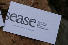Great design on #savoypaper #reichpaper Sterling Sease - deboss business cards