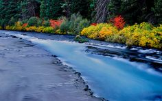 Picture of Wizard Falls on the Metolius River in Autumn near Camp Sherman, Oregon.