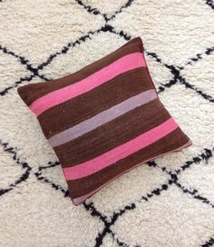 Vintage Moroccan Berber Pillow/Cushion by Artofvintagesouk on Etsy