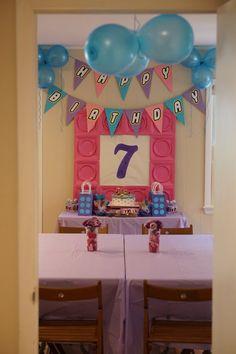 Lego Friends Theme Birthday Banner