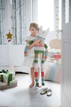 Patron de tricot pour coudre un doudou XXL - giant cat Knitting pattern for kids - Marie Claire Idées