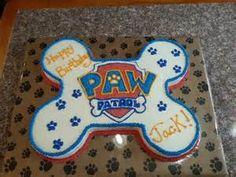 Nathan's Paw Patrol bone cake Option 1