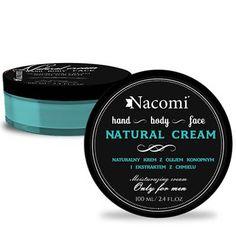 Naturalny krem dla mężczyzn z olejem konopnym i ekstraktem z chmielu 100ml Nacomi