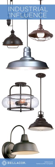 Save on Industrial Influenced Lighting at http://www.bellacor.com/industrial-influence.htm?partid=social_pinterestad_industrialinfluence