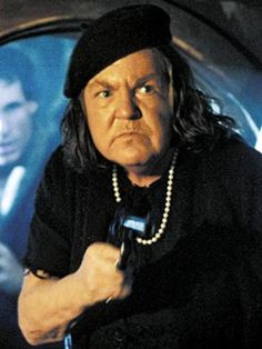 """Mama Fratelli, 'The Goonies'  Ma Barker-clone, Mama Fratelli (Anne Ramsey), in The Goonies, is the type of movie character you never forget. With a face like a catcher's mitt and a voice that could saw wood, Mama Fratelli ruled her little family of fugitives. Also worth a mention: Ramsey played another black hole of a woman, """"Momma,"""" in Throw Momma From the Train."""