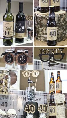 Bottoms up! 40th Birthday Party Ideas for Guys