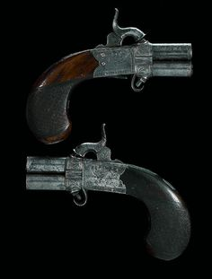 A pair of irish percussion turn-over pistols by william & john rigby, dublin, circa 1840.