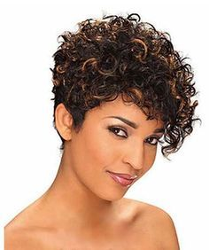 curly short hairstyles for black women Cute and curly short hair with heavy front