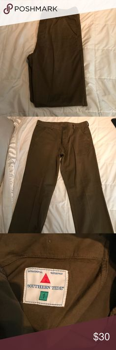 Southern Tide brown chinos. 34x32 NWOT Southern Tide pant. Brown.  Would pair great with Southern Tide blue/brown shirt in my closet. Southern Tide Pants Chinos & Khakis
