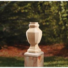 Pressure-Treated 2.75 in. x 6.75 in. Wood Octagon Finial (6-Pack)-189294 - The Home Depot