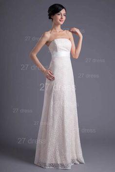 89034a5c753b Elegant White Strapless A-line Evening Dress Lace Zipper Item Code  ZPT017  · Rent Prom DressesDesigner Bridesmaid ...