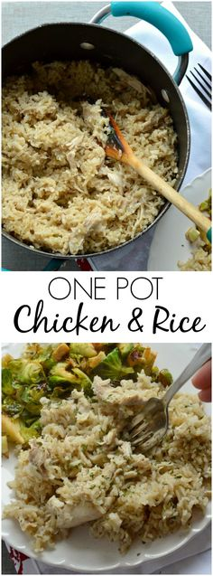 This One Pot Chicken and Rice Recipe is comfort food at its best!