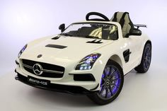 Mercedes SLS 12V Kids Ride-On Car MP4 Color LCD Battery Powered Wheels RC Remote | White