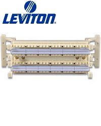 Leviton 41AB2-1F4 Gigamax 5E 110-Style Wiring Block Ivory Wall Mount Brand New!