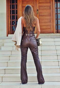 leather playsuit ::: vanessa vasconcelos