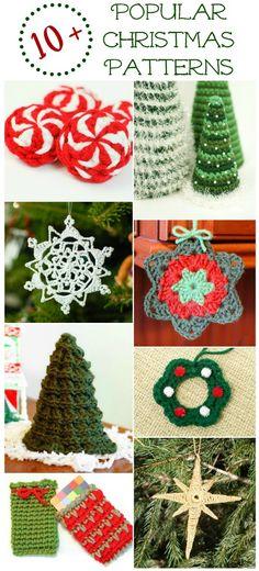 10+ Popular Free Christmas Crochet Patterns - Petals to Picots
