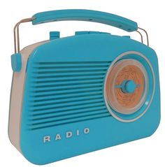 Steepletone Brighton 1950's Portable Retro Style Rotary Radio - Orange/White: Amazon.co.uk: Electronics