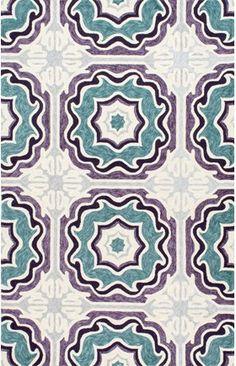 Hacienda Spanish Tiles Indoor/Outdoor Trellis Rug