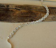 Bridal Sash Belt Wedding Dress Belt Pearl and Rhinestone