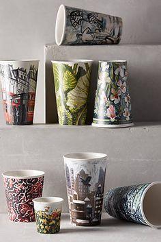 Gwyneth Leech 2014 Ceramic Sketch Cups, now at Anthropologie!