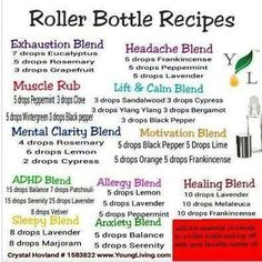 Essential oil recipes for roller bottle