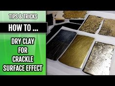 How to prepare clay (leaching) for crackle ~ Polymer Clay Tutorials