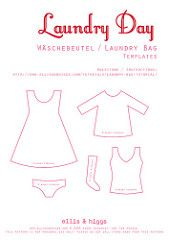 Wäschebeutel / Laundry Bag Tutorial | by ellis & higgs Felt Patterns, Bag Patterns To Sew, Card Patterns, Applique Towels, Machine Embroidery Applique, Applique Templates, Applique Patterns, Fabric Crafts, Sewing Crafts