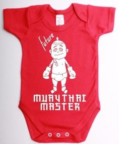 Future muay thai master funny kickboxing babygrow suit unique baby shower gift baby vest clothes: Amazon.co.uk: Clothing