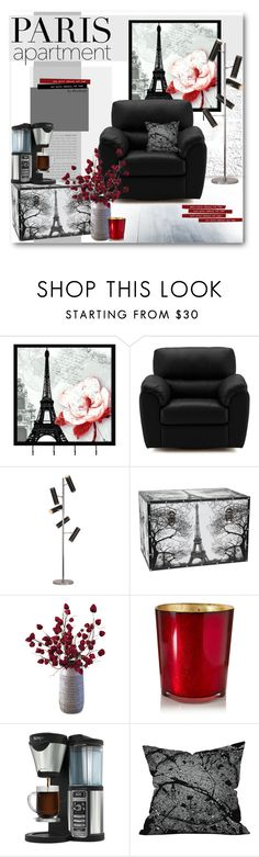 """""""Paris Apartment"""" by beebeely-look ❤ liked on Polyvore featuring interior, interiors, interior design, home, home decor, interior decorating, Universal Lighting and Decor, Renwil, Dot & Bo and Cire Trudon"""