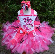 A personal favorite from my Etsy shop https://www.etsy.com/listing/287302573/hello-kitty-birthday-petti-tutu-set-with