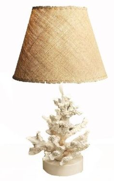 Amazon.com: Manual Woodworkers and Weavers Shoreline Collection Coral Table Lamp, 23-Inch: Home & Kitchen