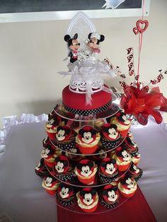 Mickey Cupcake Wedding Tower