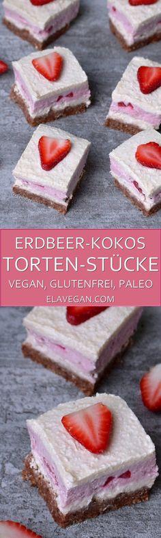 Erdbeer-Kokos Torte Pinterest