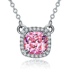diamond necklace designs cushion cut - Google Search