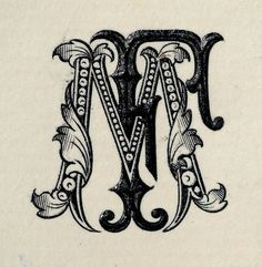 This monogram from an earlier era is not in a style I would create, not with my Bauhaus contemporary sensibility. But the hippie era did give me an appreciation for the contrast. Sometimes in the same setting.