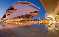 Santiago Calatrava's Palau de les Arts Reina Sofia is one of the spectacular buildings to make up Valencia's City of Arts and Sciences. #architecture ☮k☮