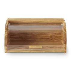 Distinguished by gorgeous two-tone grain markings, our bread box brings the warmth of olivewood to your countertop while keeping breads and pastries fresh. Olivewood is tight-grained and extremely sturdy, making it well suited to daily use in the … Small Furniture, Furniture Sale, Steel Storage Containers, Bread Holder, Tiered Fruit Basket, Bread Storage, How To Store Bread, Countertop Organization, Kitchen Utensil Holder