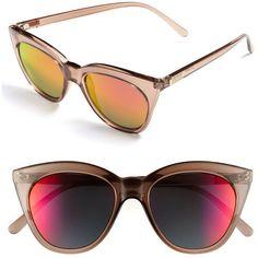 Le Specs 'Halfmoon Magic' Sunglasses ($59) found on Polyvore