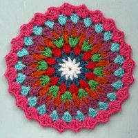 Crochet Mandala Wheel made by Tasmin, East Sussex, UK for yarndale.co.uk