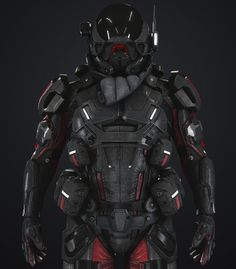 Hello everyone, this is my model, a character fanart from the game Mass Effect, I really like this game and its world, Enjoy N7 Armor, Sci Fi Armor, Suit Of Armor, Body Armor, Character Concept, Character Art, Character Design, Star Citizen, Futuristic Armour