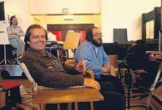 Jack Nicholson y Stanley Kubrick en El Resplandor