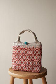 handwoven bags / overshot